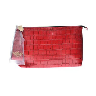 雅诗兰黛 红色鳄鱼纹化妆包(1个)