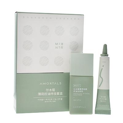 韩国AMORTALS 尔木萄薄荷控油持妆2件套盒(30ml+10ml)