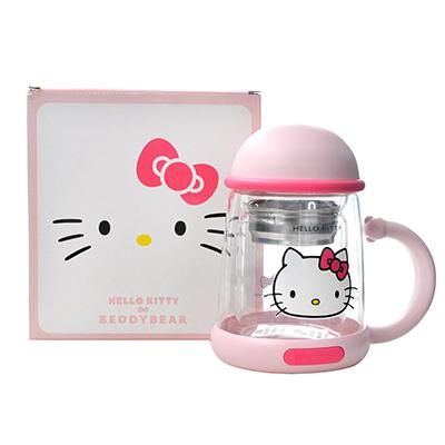 韩国杯具熊 Hello Kitty联名双层玻璃杯/泡茶水壶(320ml)kitty-配礼袋