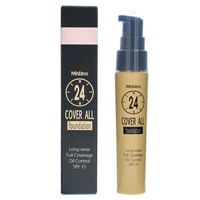 泰国Mistine 24小时不易脱妆粉底液SPF15(25g)F1#象牙白-随机发