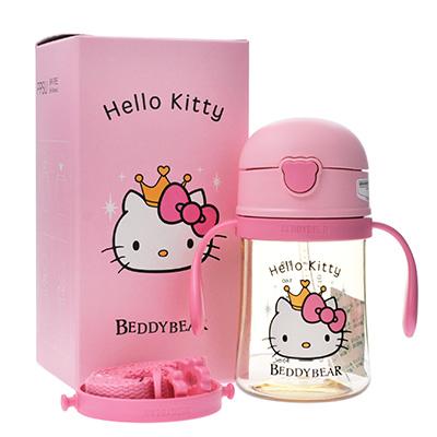 韩国杯具熊 Hello Kitty联名PPSU学饮杯(240ml)公主Kitty-配礼袋