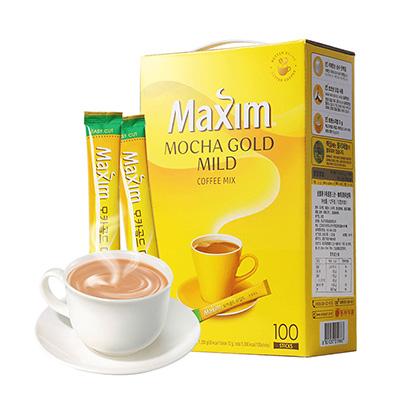 韩国Maxim 麦馨三合一摩卡速溶咖啡(100条/盒)黄色