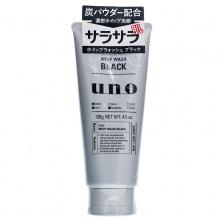 日本Shiseido 资生堂UNO吾诺黑炭男士洗面奶(130g)黑色控油
