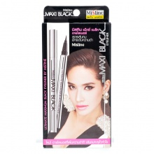 泰国Mistine MAXI Black 眼线液笔(1g)银管 浓黑易上妆
