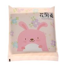 满500赠品-花间兔 大豆纤维棉柔干湿洗脸巾卸妆巾(10片装)便携式