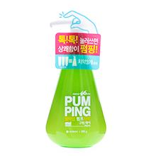韩国LG PUM PING 新概念可爱按压式绿色牙膏(285g)