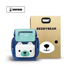 韩国杯具熊 皮皮乐园系列7-10岁减负护脊卡通书包(1个)皮皮熊蓝色-配礼袋