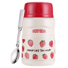 韩国杯具熊 花色保温饭盒/焖烧罐(500ml)草莓