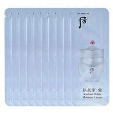 韩国whoo后 雪 美白水分膏/美白面霜(120袋/包)保湿润色