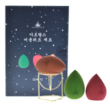 韩国AMORTALS 尔木萄星空美妆蛋套盒(3只海绵蛋+1个支架)随机发