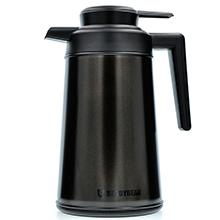 韩国杯具熊 欧式不锈钢家用保温壶热水瓶(2L)宇宙黑