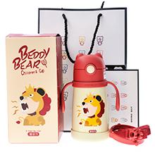 韩国杯具熊 儿童小号带手柄学饮保温杯(320ml)狮子王-配礼袋