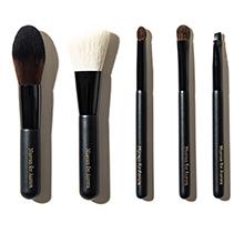 日本NUSVAN 迷你动物毛化妆刷套装(5支)黑色