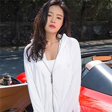 韩国lets diet 成人三代防紫外线防晒衣UPF50+(1件)白色