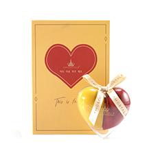 韩国AMORTALS 尔木萄爱心心悦美妆蛋(2只海绵蛋+1个支架)黄红色