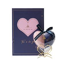 韩国AMORTALS 尔木萄爱心心悦美妆蛋(2只海绵蛋+1个支架)蓝粉色