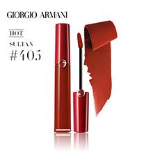 Armani 阿玛尼臻致丝绒哑光液体唇釉(6.5ml)红管 405#烂番茄色