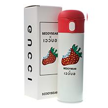 韩国杯具熊 玩潮系列成人吸管保温杯(480ml)草莓-配礼袋