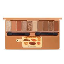 爱丽小屋 面包10色眼影盘(0.9g*10)暖杏棕色