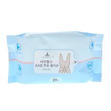 满500赠品-韩国AMORTALS 尔木萄手口湿巾(20抽)蓝色