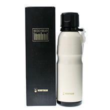 韩国杯具熊 户外运动恒温运动水壶/保温保冷杯(550ml)白色-配礼袋