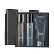 韩国AHC 男士水乳洁面3件套礼盒(洁面140ml+水乳120ml*2)