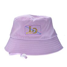 韩国lets diet 儿童双面防晒渔夫帽(1个)卡其+粉紫