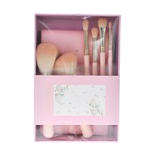 日本NUSVAN 小白鸭化妆刷6件套(6支)送收纳包-颜色随机