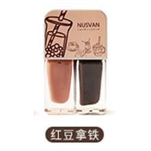 日本NUSVAN 奶茶双色撕拉指甲油(4g*2)红豆拿铁
