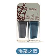 日本NUSVAN 奶茶双色撕拉指甲油(4g*2)海藻之蓝