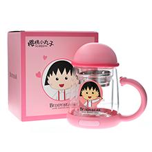 韩国杯具熊 双层玻璃杯/泡茶水壶(320ml)樱桃小丸子-配礼袋子