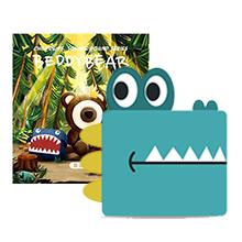 韩国杯具熊 方方圆圆系列儿童书包(1个)鳄鱼