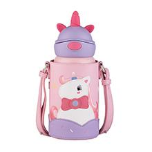 韩国杯具熊 定制款儿童保温杯耳朵杯(600ml)硅胶独角兽-配礼袋