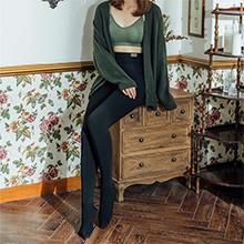 韩国lets diet 6+微绒高腰恒温瘦腿袜1200D(均码)黑色-连脚
