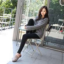 韩国lets diet 8+水貂绒瘦腿袜子/打底裤(黑色)黑色-束脚