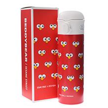韩国杯具熊 芝麻街联名系列成人保温杯(480ml)脸谱艾摩-配礼袋