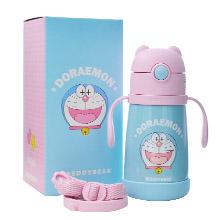 韩国杯具熊 哆啦A梦联名系列学饮保温杯(320ml)粉色笑脸梦-配礼袋