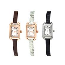 (直发包邮)日本KISHINE 女士石英手表迷你细带小方盘款(1只)手表+手链-下单备注颜色