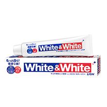 日本LION 狮王White大白去渍牙膏(150g)薄荷味